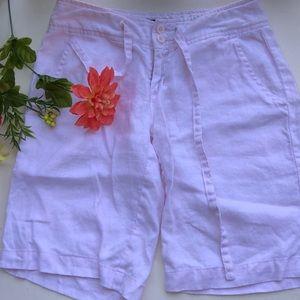 ISLAND COMPANY Pink 100% linen shorts size XS